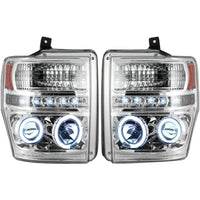 RECON CLEAR PROJECTOR HEADLIGHTS LED OR CCFL HALOS - ALL COLORS - 6.4L (2008-2010)