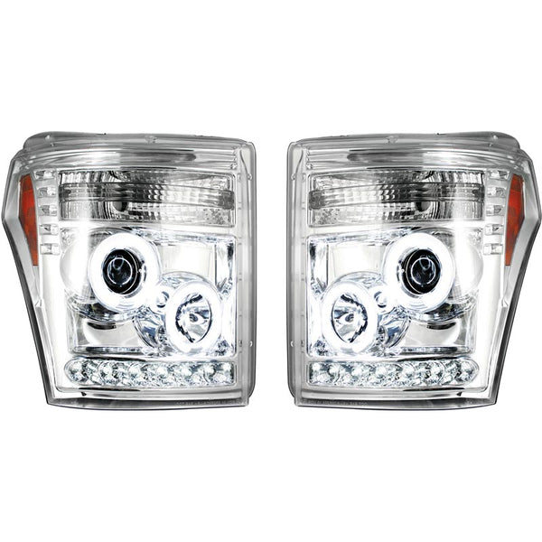 RECON CLEAR OR SMOKED PROJECTOR HEADLIGHTS WITH CCFL HALOS - 6.7L (2011-2016)