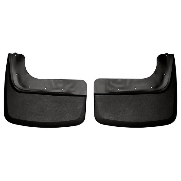 HUSKY LINERS BLACK CUSTOM MOLDED REAR MUD GUARDS DUALLY- 6.7L (2011-2016)