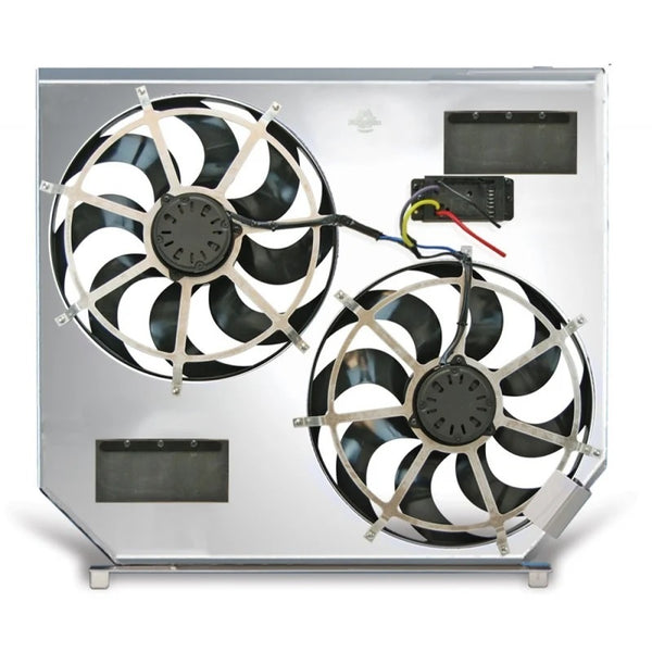 FLEX-A-LITE DIRECT-FIT DUAL ELECTRIC COOLING FANS - 7.3L (1999-2003)