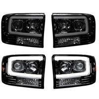 RECON CLEAR OR SMOKED PROJECTOR HEADLIGHTS WITH OLED U-BAR - 6.0L (2003-2004)