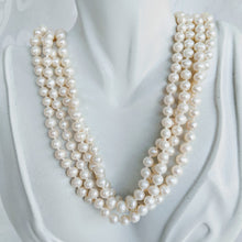 Load image into Gallery viewer, Long cultured freshwater pearl (5mm x 6mm) necklace