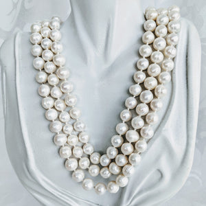 Long cultured freshwater pearl (10mm) necklace