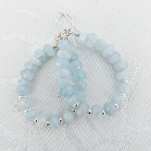 Load image into Gallery viewer, Aquamarine teardrop earrings