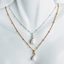 "Load image into Gallery viewer, ""Tess"" ~ sweet petite necklace with detachable pearl pendant"