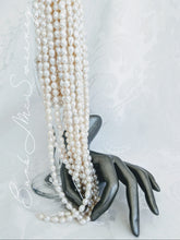 Load image into Gallery viewer, Elegant Baby Baroque pearl necklace with gold accents