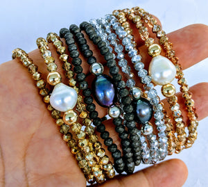 Sparkle triple wrap bracelet / necklace collection (see all photos)