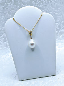 14k gold fill Satellite chain with Baroque pearl pendant