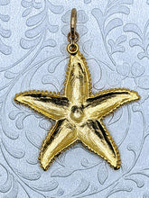 Load image into Gallery viewer, Extra Large Starfish pendant (available in pewter or gold plate over pewter)