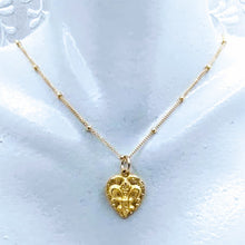 Load image into Gallery viewer, 14k gold fill Satellite chain with Fleur de Lis pendant