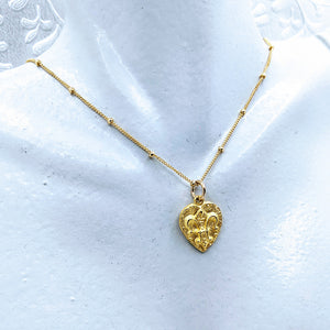 14k gold fill Satellite chain with Fleur de Lis pendant