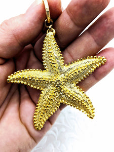 Extra Large Starfish pendant (available in pewter or gold plate over pewter)