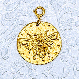 Large Bee pendant (available in pewter or gold plate over pewter)