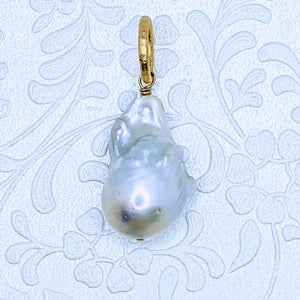 Large Cultured Freshwater Baroque pearl pendant (Item D)