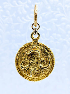 Pewter Octopus pendant (available in pewter or gold plate over pewter)