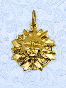 Pewter Sun Face pendant (available in pewter or gold plate over pewter)