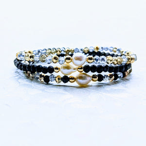 Single Pearl Sparkle Bracelet (Six colors to choose from)