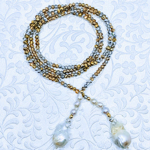 "40"" Sparkle lariat with pearls (see all color options)"