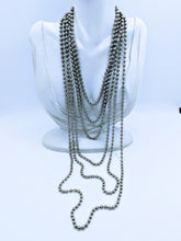 Load image into Gallery viewer, Stainless steel bead chains (many lengths available) FREE bracelet with purchase of a necklace