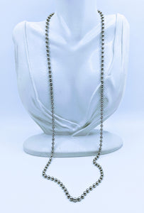 Stainless steel bead chains (many lengths available) FREE bracelet with purchase of a necklace
