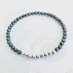 Faceted Hematite and Sterling Silver