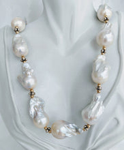 Load image into Gallery viewer, Stunning Extra Large Baroque pearl necklace