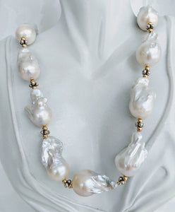 Stunning Extra Large Baroque pearl necklace
