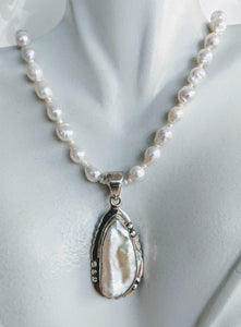 Baby Baroque pearl with Sterling pearl pendant