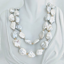 Load image into Gallery viewer, Long graduated Keshi pearl necklace