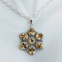 Load image into Gallery viewer, Citrine and Sterling silver pendant