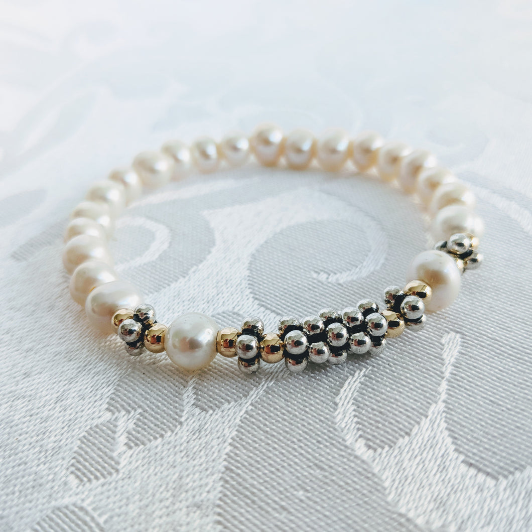 Pearl and Sterling silver caviar