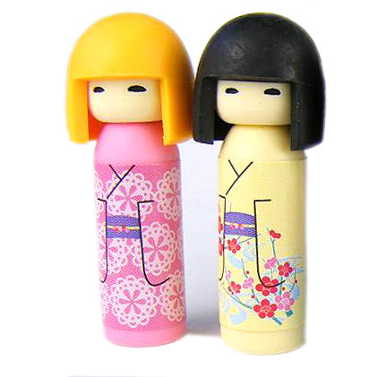 Kokeshi Dolls Erasers set of 2