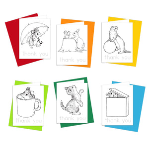 Whimsy Animals Thank You Notes
