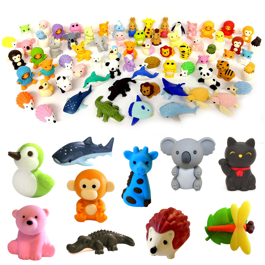 Animal Erasers set of 10