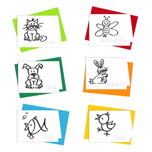 coloring cards for kids Little Buddies