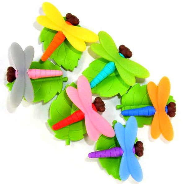 Dragonfly Erasers set of 6