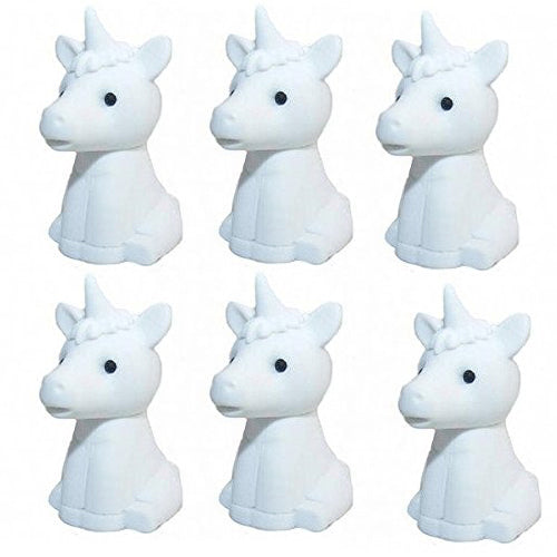 Unicorn Erasers set of 6