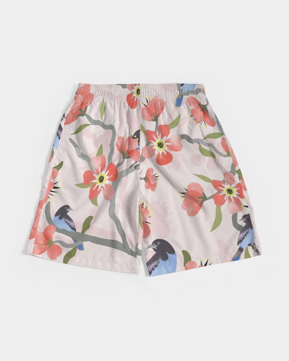 Polymorph Pink Blue Bird Jogger Shorts