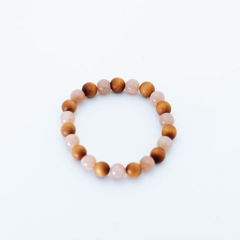 Polymorph Moonstone and Sandalwood Bracelet