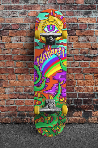 Polymorph All-Seeing Eye Psychedelic Skateboard Deck