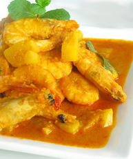 Nonya Curry Prawns ( Goreng Udang Curry Nonya)