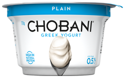 Chobani Greek Plain Yogurt<br>170g Cup