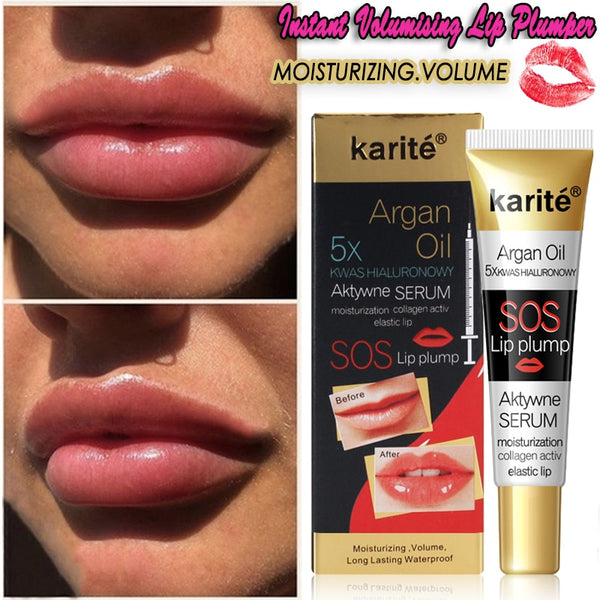 Instant Volumising Lip Plumper Serum Moisturizing Lips Repairing Mask Reduce Lip Fine Lines Collagen Lip Plumper Oil Gloss Care