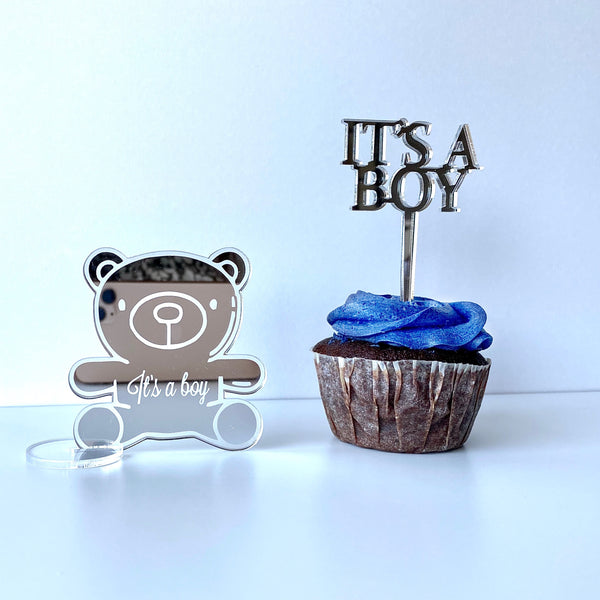 Caketopper mini - It's a Boy 4 stk.