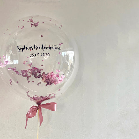 Confetti Bubble ballon