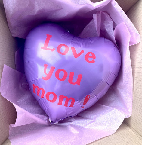 (KUN AFHENTNING) - Love you mom ballon