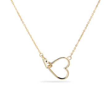 Interlocking Mom+Child Hearts Necklace
