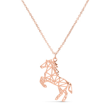 Geometric Horse Necklace