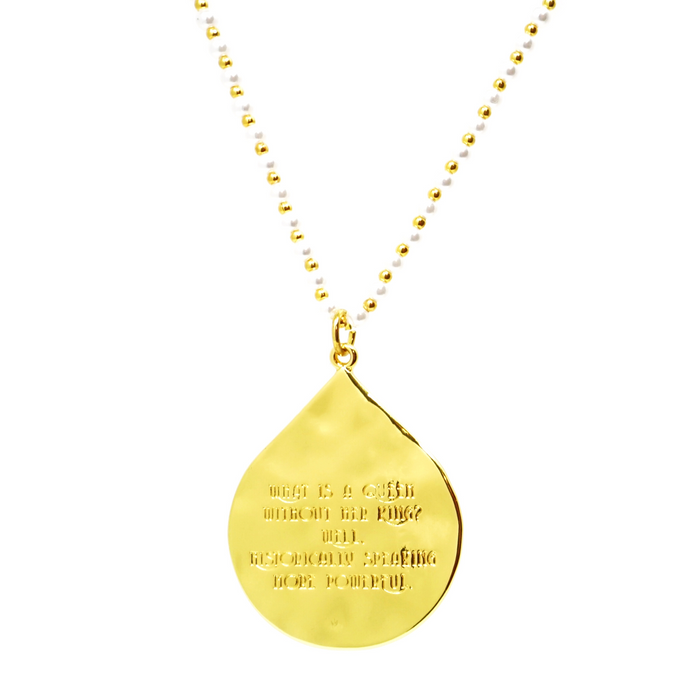 """What is a Queen without her King..."" Statement Pendant Necklace"