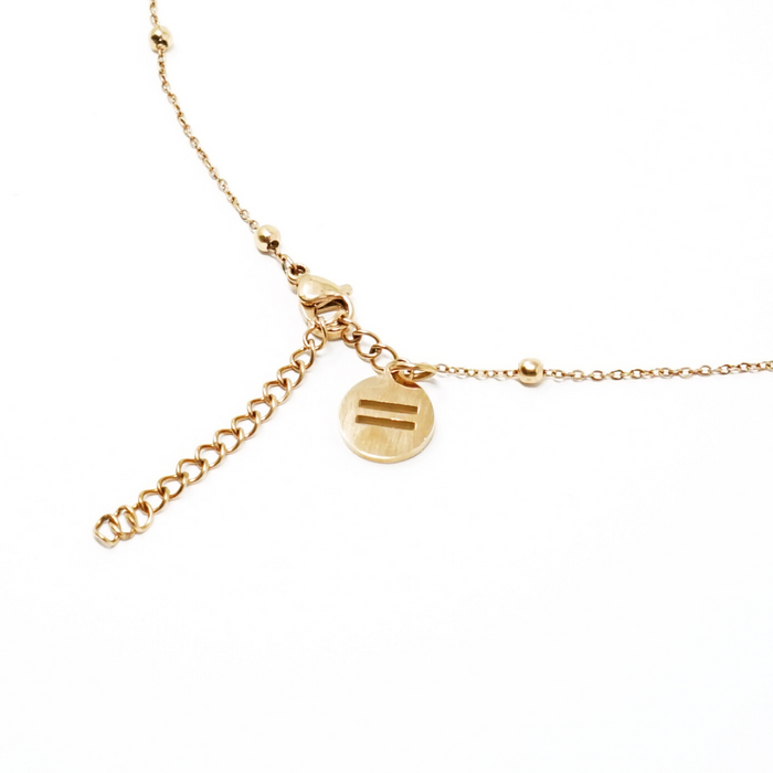 """GRL PWR"" Dainty 2 Layer Necklace"